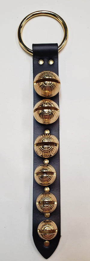 Door Hanger 6 Graduating Bells Black/Brass