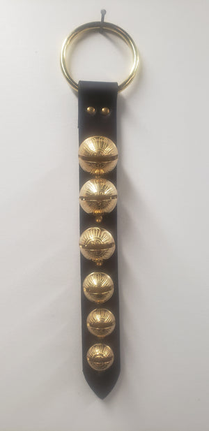 Door Hanger Sleigh Bells 6 Graduating Black/Brass 2