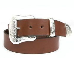 Western Amarillo Silver buckle set includes: Buckle, Keeper and Tip.