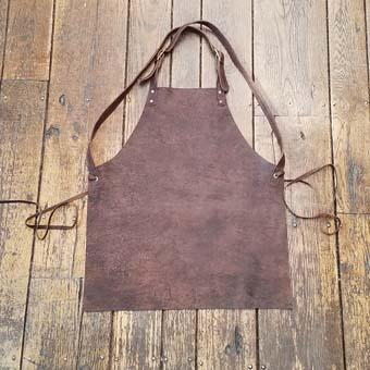 Cross-Back Leather Apron Heavy Duty