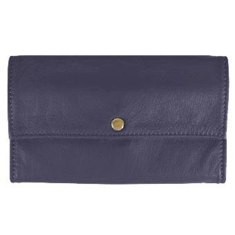 Deluxe Ladies Tri-Fold Leather Clutch Wallet