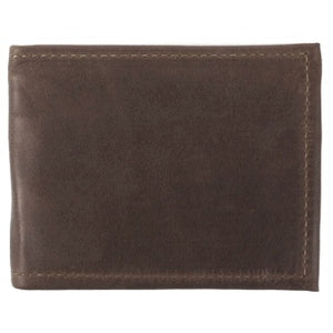 "Chocolate Deluxe Bi-fold Leather Wallet offers a total of 10 ID and credit card slots and a full length divided bill compartment. Folded size 3.5"" x 4.5"""