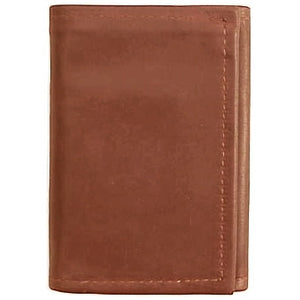 "Cognac original Tri Fold Wallet has a total of 5 card pockets and a bill pocket with divider. Closed size 4.5"" x 3.25"""