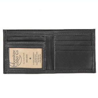 Bi-Fold Leather Credit Card and ID Wallet