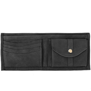 Bi-Fold Leather Wallet with Coin Pocket