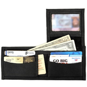 Flip ID Leather Wallet