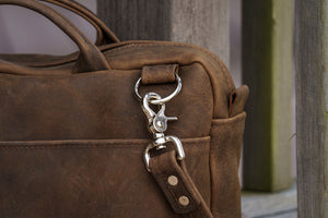 courier brown strap attachment