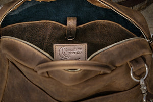 courier brown inside pocket