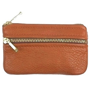 7 inch Double Zip British Tan