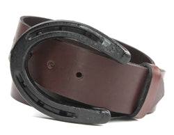 This belt buckle is made out of a Pony Shoe. If you love horses, this belt buckle is for you.   Belt loop width measurement: 1.75""