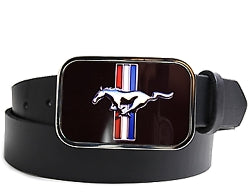 If you own a Mustang, belong to a Mustang club or had one in your past, this metal Mustang belt buckle is a must-have.