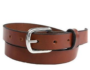 "Plain Leather Custom Belt Light Brown .75"" wide"