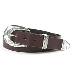 Sedona buckle set includes: Buckle, Keeper and Tip. Available in Silver or Silver and Gold.