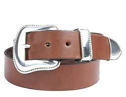Western Southwest Floral Silver buckle set includes: Buckle, Keeper and Tip.