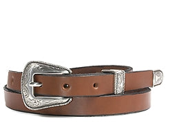 Western Odessa Silver buckle set includes: Buckle, Keeper and Tip.