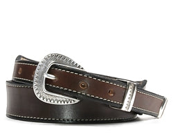 Western Laredo Silver buckle set includes: Buckle, Keeper and Tip.