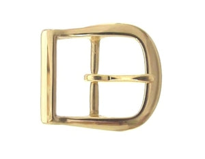 Our horseshoe buckle comes in either brass or silver.