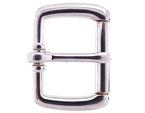 Our roller buckle comes in either brass or silver.