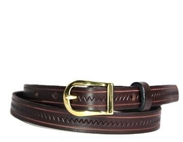 Custom One-Tone Zig Zag Leather Belt