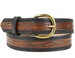 Custom Vine Pattern Leather Belt | $75 - $80