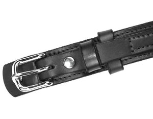 Ranger Black Silver End Bar Buckle