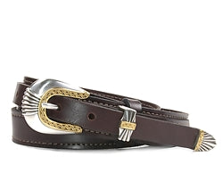 Western Del Rio Silver and Gold buckle set includes: Buckle, Keeper and Tip.