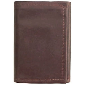"Chocolate original Tri Fold Wallet has a total of 5 card pockets and a bill pocket with divider. Closed size 4.5"" x 3.25"""