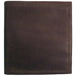 "Chocolate Bi-fold Leather Credit Card wallet holds up to 8 credit cards and 2 additional vertical pockets on the inside of the wallet. Full length bill holder and 1 horizontal vinyl picture insert. Size 4.25"" x 4.50"" folded."