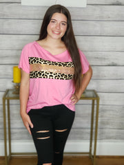 Pink,  Animal Print and Sparkle Tee