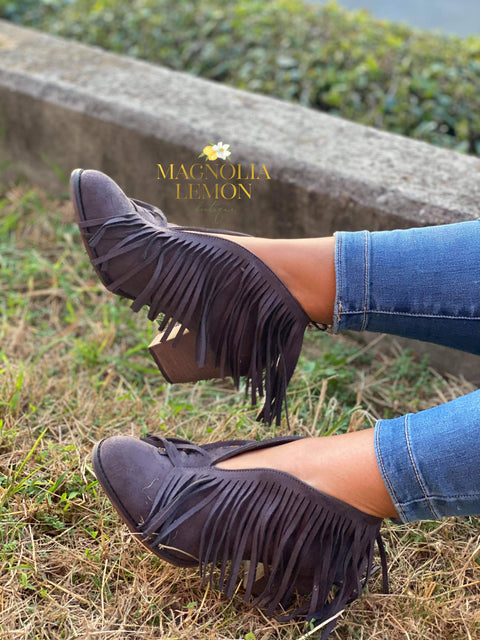Fun with Fringe Ankle Bootie