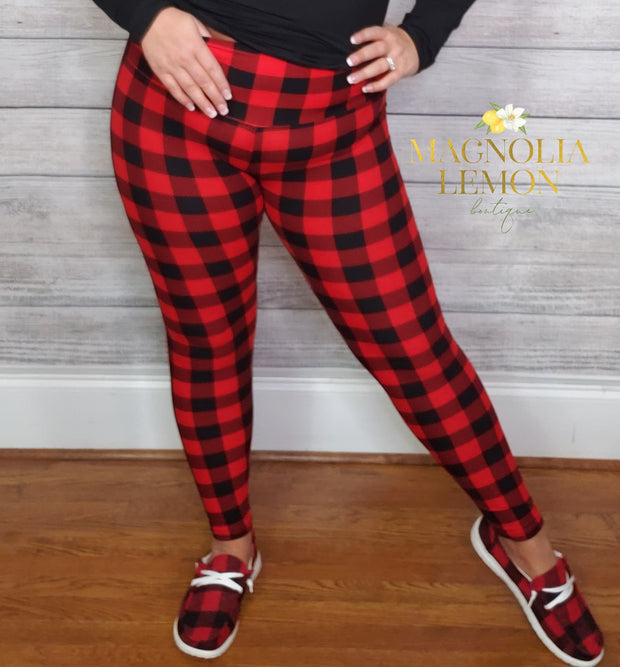 Buffalo Plaid Curvy Butter Leggings