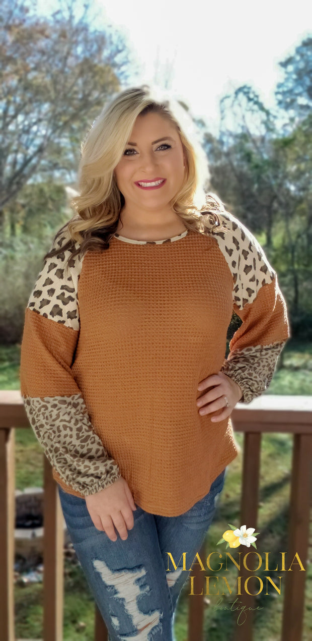 Leaping for Leopard Top