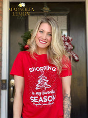 Shopping Is My Favorite Season Tee