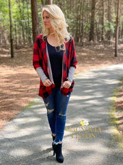 Pretty in Plaid Cardigan