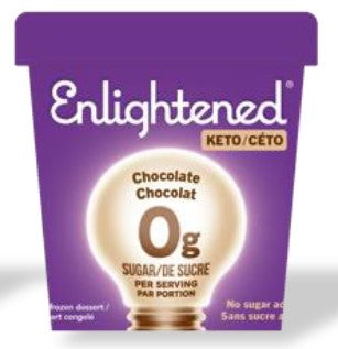 ENLIGHTENED KETO ICE CREAM - CHOCOLATE - 473ML