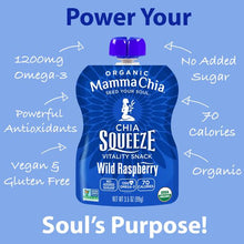 Load image into Gallery viewer, MAMMA CHIA SQUEEZE - WILD RASPBERRY - 99G