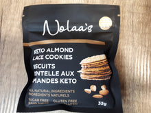 Load image into Gallery viewer, NOLAA'S - KETO ALMOND LACE COOKIES - 2 PACK