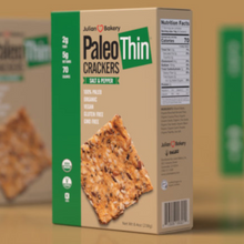 Load image into Gallery viewer, JULIAN BAKERY PALEO THIN CRACKERS - SALT & PEPPER 238G (4611854467123)