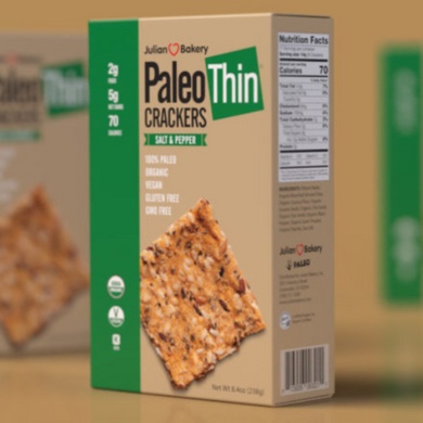 JULIAN BAKERY PALEO THIN CRACKERS - SALT & PEPPER 238G (4611854467123)