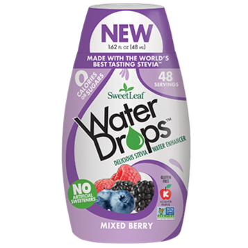 SWEET LEAF - WATER DROPS - MIXED BERRY - 348ML (4602926956595)