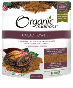 ORGANIC TRADITIONS - CACAO POWDER - 227G (4603665121331)