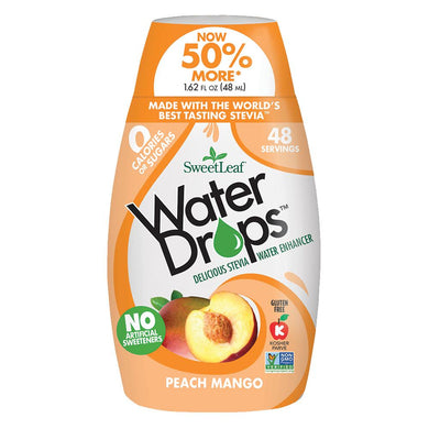SWEET LEAF - WATER DROPS - PEACH MANGO - 348ML (4619905302579)