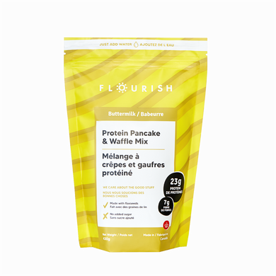 FLOURISH PROTEIN PANCAKE MIX - BUTTERMILK - 430G (4610811887667)