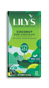 LILY'S DARK CHOCOLATE - COCONUT -85G (4610824699955)