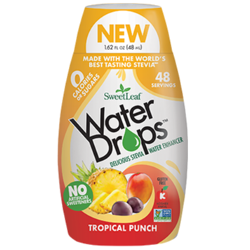 SWEET LEAF - WATER DROPS - TROPICAL PUNCH - 348ML (4602921123891)