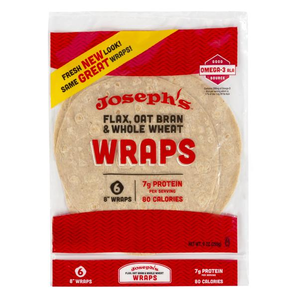 JOSEPH'S BAKERY - FLAX OAT WHEAT TORTILLA - 6 PACK 255G (4613958107187)