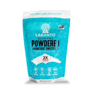 LAKANTO MONKFRUIT SWEETENER - POWDERED 2X - 454G (4604458532915)