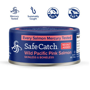 SAFECATCH - WILD PINK SALMON - NO SALT - 142G (4618063904819)
