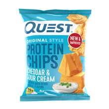 Load image into Gallery viewer, QUEST CHIPS - CHEDDAR & SOUR CREAM - 18G (4611900768307)