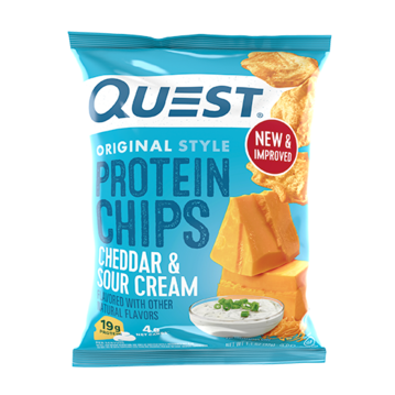 QUEST CHIPS - CHEDDAR & SOUR CREAM - 18G (4611900768307)
